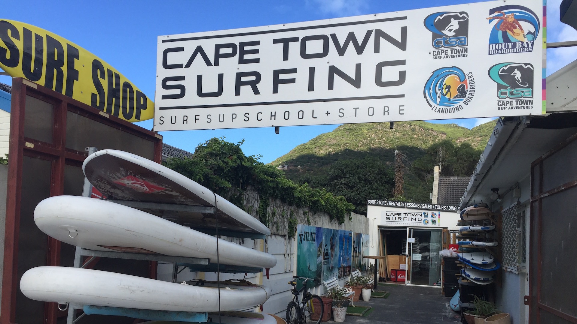 The CAPE TOWN SURFING shop in Hout Bay