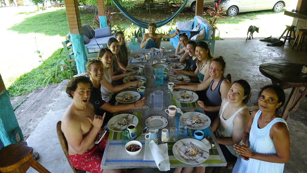 best food surf camp