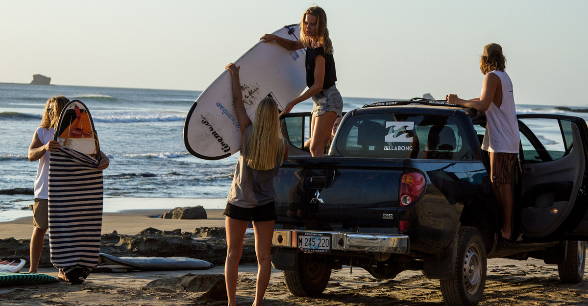 Surf pick up Nicaragua