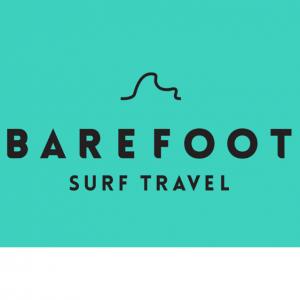 The BAREFOOT SURF TRAVEL logo