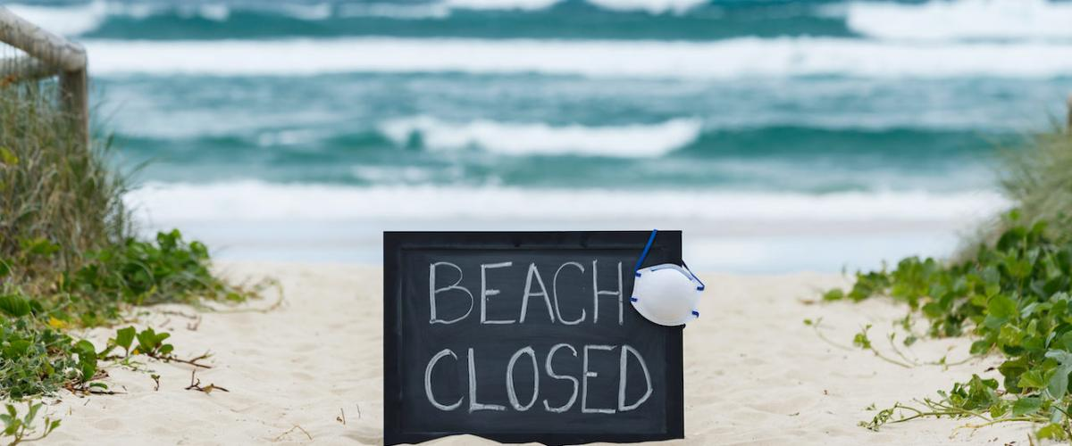 Beaches are closed in Durban due to COVID-19